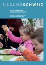 Bildung Schweiz 1/ 2013 - beim LCH