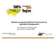 Modelle und gesellschaftliche Prozesse für ein regionales ...