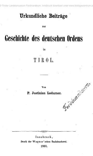 Geschichte des deutschen Ordens - Oberösterreichisches ...
