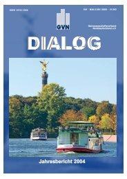 Jahresbericht 2004 - Genossenschaftsverband eV