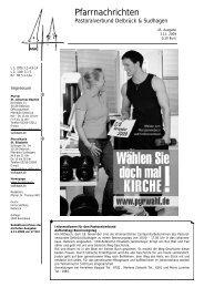 Allerheiligen 2009 - Pastoralverbund Delbrück Sudhagen