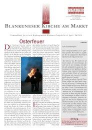 Gemeindebrief 61 - in Blankenese