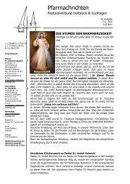 7.November 2010 32.Sonntag im Jahreskreis - Pastoralverbund ...