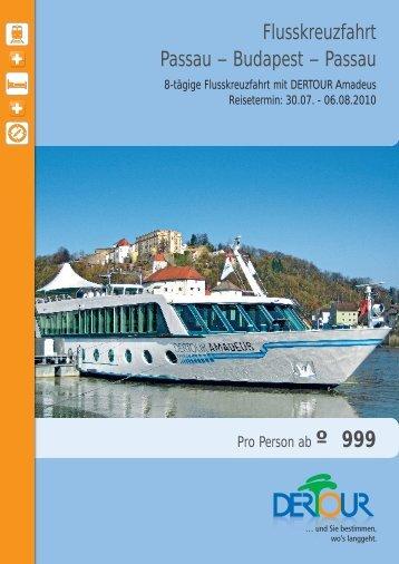 Flusskreuzfahrt Passau – Budapest – Passau - Dertour