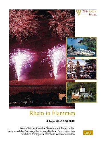 Rhein in Flammen Reiseprospekt