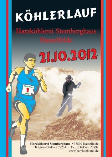 Harzköhlerei Flyer DIN A6 Vorderseite 06 2012