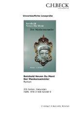Reinhold Neven Du Mont Der Maskensammler Roman - C.H. Beck