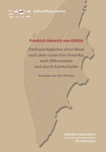 Friedrich Heinrich von Kittlitz Denkwürdigkeiten einer Reise nach ...