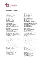 Liste der Aussteller 2012 - Hochzeitswelt Bad Nauheim
