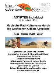"Ã""GYPTEN individuel - Bike Adventure Tours"