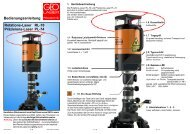 Bedienungsanleitung Rotations-Laser RL-70 Präzisions-Laser PL-74