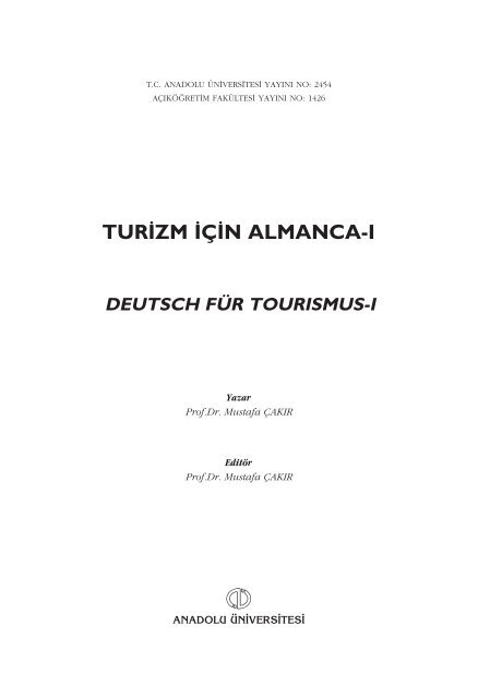 Tur Zm C N Almanca I Anadolu Universitesi