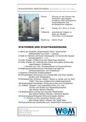 STATIONEN DER STADTWANDERUNG