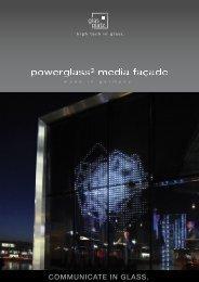 Medienfassaden folder - glas platz GmbH & Co. KG