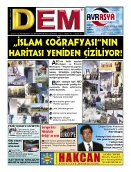 """""""İslam coĞrafyasi""""NIN - Dem Gazetesi"""