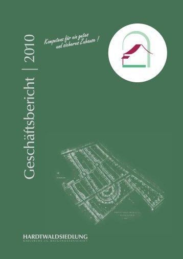 Geschäftsbericht 2010 - Hardtwaldsiedlung Karlsruhe ...