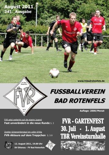 Ausgabe August 2011 Werbung - FVR News