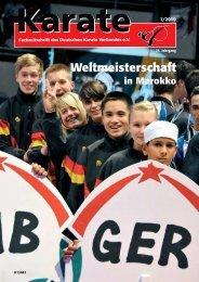 Weltmeisterschaft - Chronik des deutschen Karateverbandes
