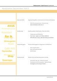 AVUS Lounge Bar & - Mövenpick Restaurants