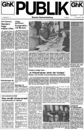 Publik. - Jg. 11.1988, Nr. 11 - KOBRA - Universität Kassel