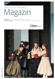 Opernmagazin September / Oktober 2010 - Oper Frankfurt