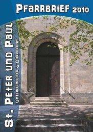 Pfarrbrief 2010 - St. Peter und Paul Unterleinleiter