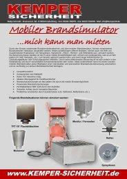 Mobiler Brandsimulator