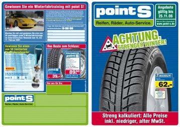 Streng kalkuliert: Alle Preise inkl. niedriger, alter MwSt. - RSU Reifen ...