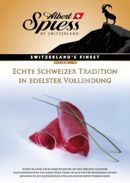 Produkteflyer als PDF - Albert Spiess AG