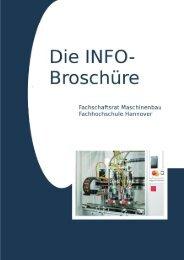 Die INFO-Broschüre Fachschaftsrat Maschinenbau ... - Fakultät II