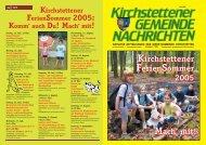 Gemeindezeitung, 2. Quartal 2005 - Marktgemeinde Kirchstetten