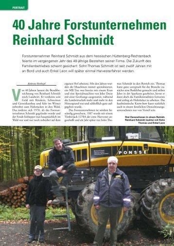 40 Jahre Forstunternehmen Reinhard Schmidt - Wahlers Forsttechnik