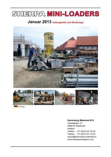 Anbaugeräte und Werkzeuge - Sherpa Miniloaders