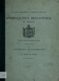 Verzeichnis der tibetischen Handschriften der Königlichen ... - Index of