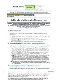 024-008 S2 Bakterielle Infektionen des Neugeborenen 02 ... - AWMF
