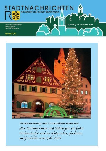 Donnerstag, 18. Dezember 2008 Woche 51/52 - Stadt Renningen