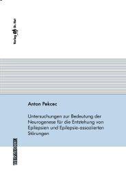 Untersuchungen zur Bedeutung der Neurogenese für die - Stiftung ...