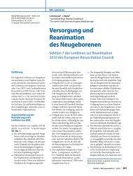 Versorgung und Reanimation des Neugeborenen (ERC - Reanitrain