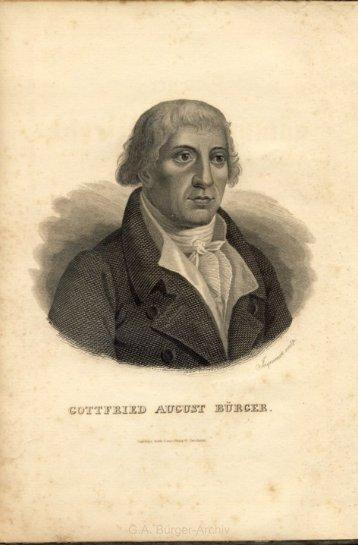 G.A. Bürger-Archiv - Leben und Werk des Dichters Gottfried August ...