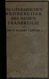 Die literarischen Wegbereiter des neuen Frankreich