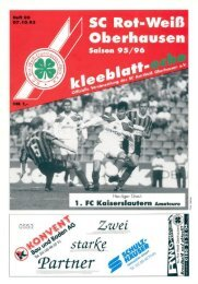 Page 1 . I | Oberhausen Saison 95/96 -I I . FC Kaiserslautern ...