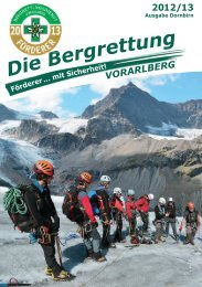 Fördererbericht Dornbirn - Bergrettung Vorarlberg