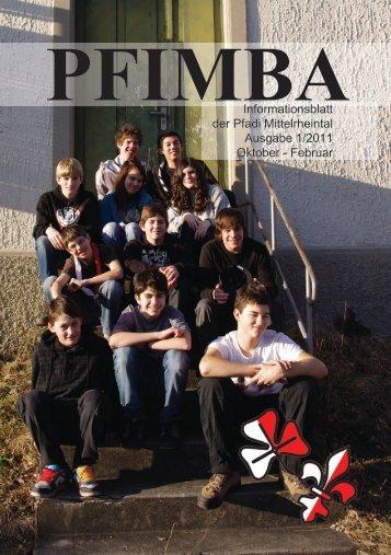 Informationsblatt der Pfadi Mittelrheintal Ausgabe 1/2011 Oktober ...