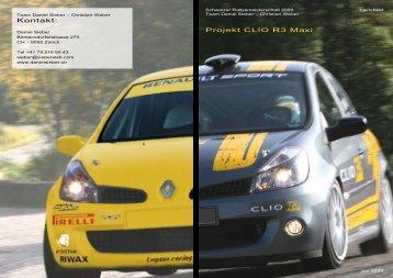 Projekt CLIO R3 Maxi Kontakt: