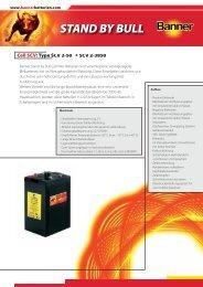 Folder Stand by Bull SCV Cells D (0.5 - Banner Batterien