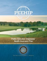 PEEHIP Member Handbook - The Retirement Systems of Alabama