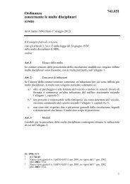 Ordinanza concernente le multe disciplinari 741.031 - admin.ch
