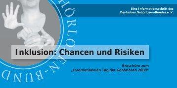 """""""Inklusion: Chancen und Risiken"""" als PDF - Deutscher Gehörlosen"""