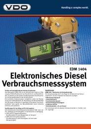 Elektronisches Diesel Verbrauchsmesssystem