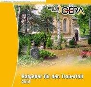 Ratgeber für den Trauerfall (application/pdf 2.9 MB - Stadt Gera